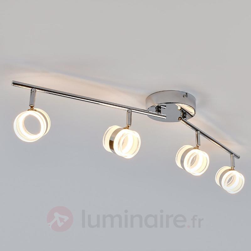 Plafonnier LED Levent à 4 lampes - Plafonniers LED