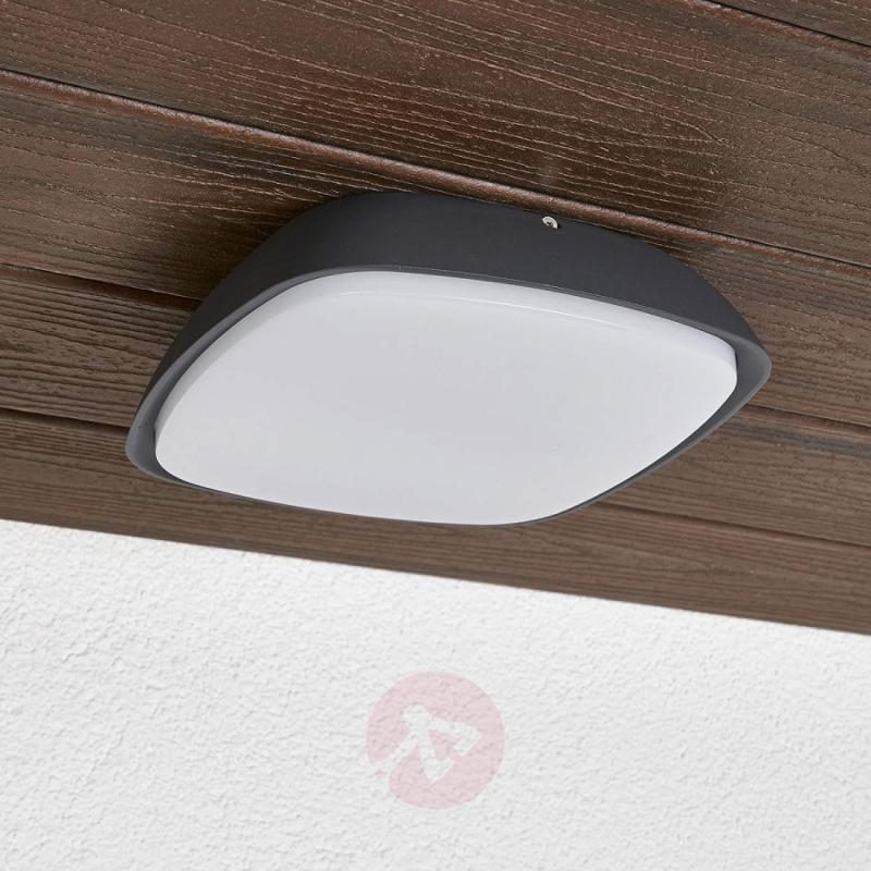 Aluminium outdoor wall light Cailan with LED IP65 - outdoor-led-lights