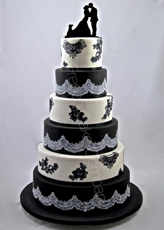 Gâteaux et Pièces Montées sur-mesure - Pièce montée Broderies noires