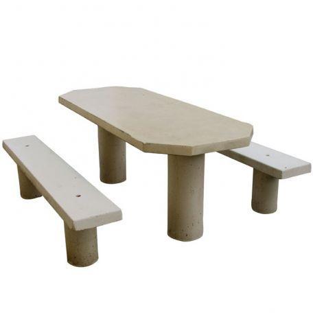 Table Ovale Béton - Tables De Pique-Nique