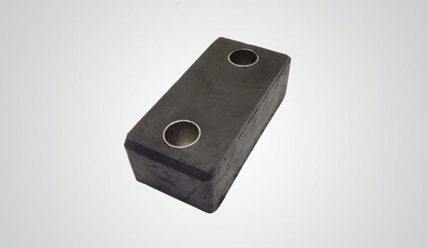 Rubber metal pieces -