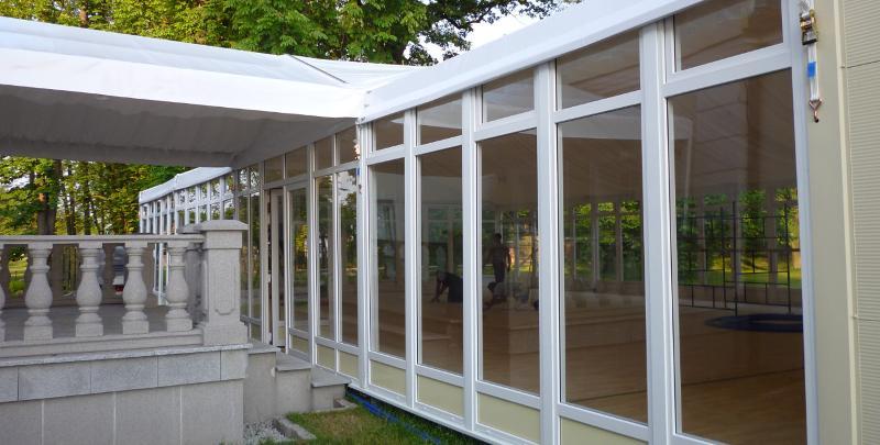 Panneau fixe en verre - Accessoires Tentes de Réceptions Alu, Halls sportifs