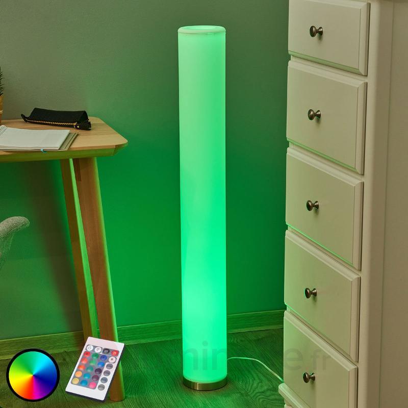 Lampadaire LED à éclairage de couleur Mirella, RGB - Lampadaires LED