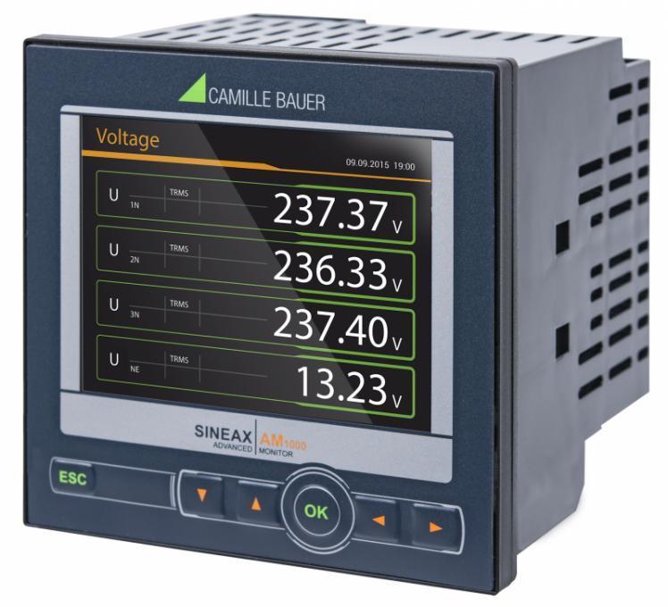 SINEAX AM1000 - Appareil compact pour la mesure et surveillance dans les réseaux à courant fort.