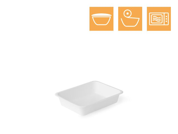 PP tray, 1-comp - Microwave trays