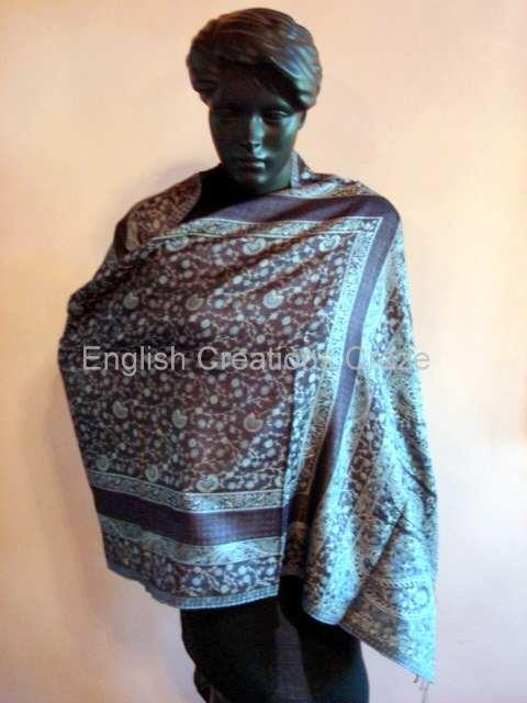 Silk Jacquard Shawls - Silk Jacquard Shawls