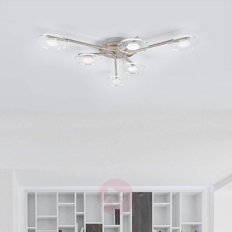 6-light LED ceiling light Tiam - Ceiling Lights