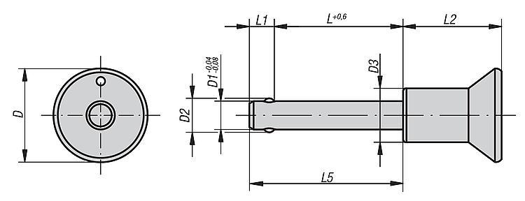 Ball Lock Pins Self-locking, Stainless Steel - Spring plungers Indexing plungers Stops Centring/positioning components Ball loc