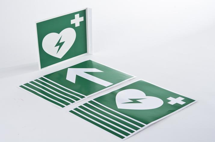 Defibrillator location signs - Accessories Professional users