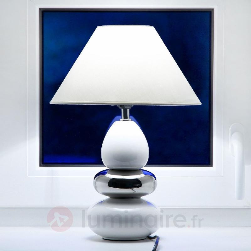 Lampe à poser moderne BALON avec élégant pied - Lampes à poser en tissu