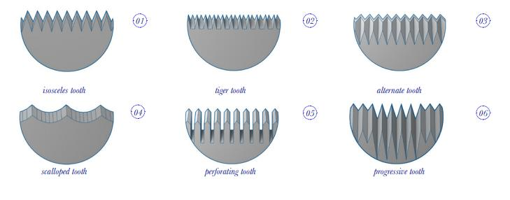 SERRATED KNIVES - DAIRY PRODUCTS CUTTING BLADES