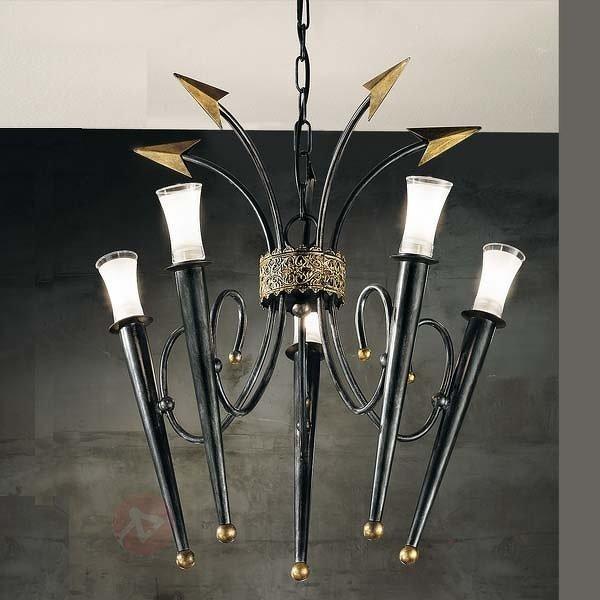Lustre IMPERO à 5 lampes - Lustres rustiques