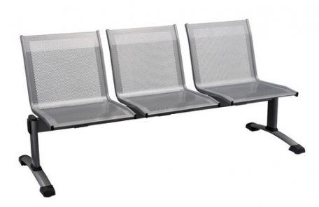 banquette d'accueil 3 places métal - Mobilier Intérieur