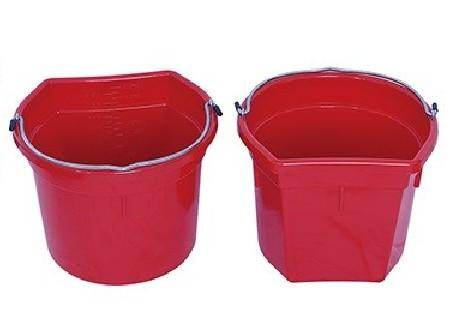 Plastic Flat Back Buckets for Horses - Plastic Horse Water Bucket, horse feeding bucket