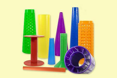 Kunststoff-Zylinder und -Hülsen