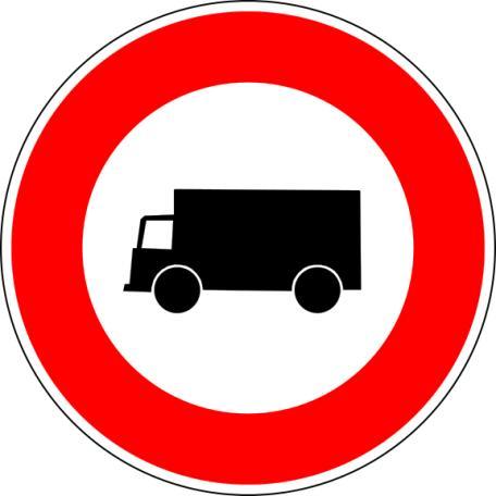 Panneau B8 Interdiction D'accès Aux Véhicules Affectés Au Transport - Balisage De Chantier Et Panneaux Routiers