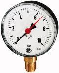Standard pressure gauge, radial bottom, G 1/2, 0-160... - Standard pressure gauge, connection radial on bottom