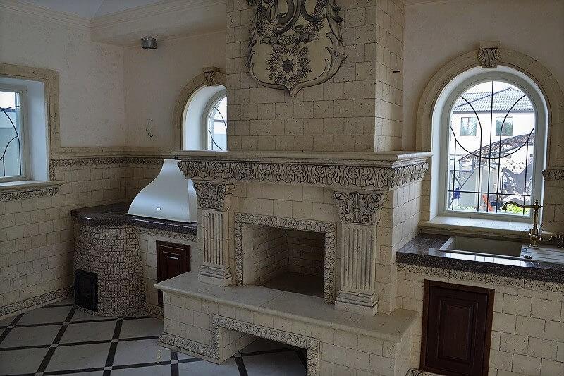 Каминная облицовка с декором интерьера - Отделка каминного комплекса и декорирование комнаты отдыха керамикой