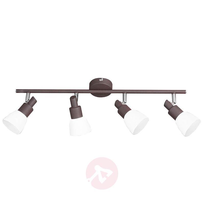Antique brown LED ceiling light Eve, 4-bulb - Ceiling Lights