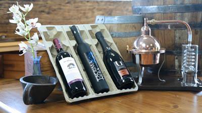 Vassoio universale in polpa per bottiglie