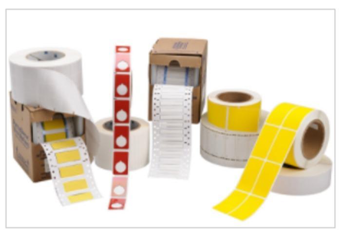 Etiketten unterschiedlicher Materialien - null