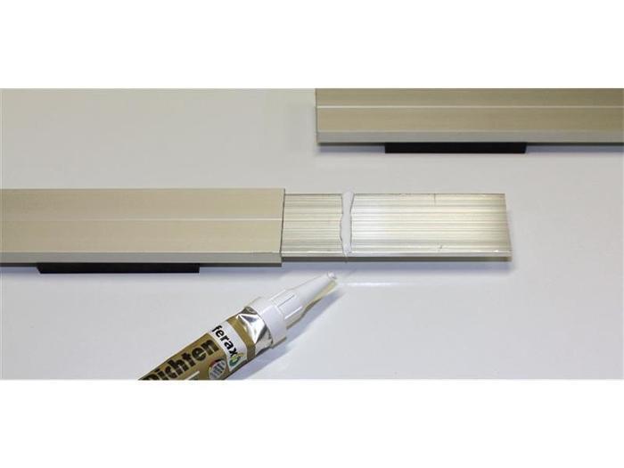Aluminiumprofile für den Terrassenbau - Terrassenmeister® Verbindungsschiene Einschiebling für Alu-S