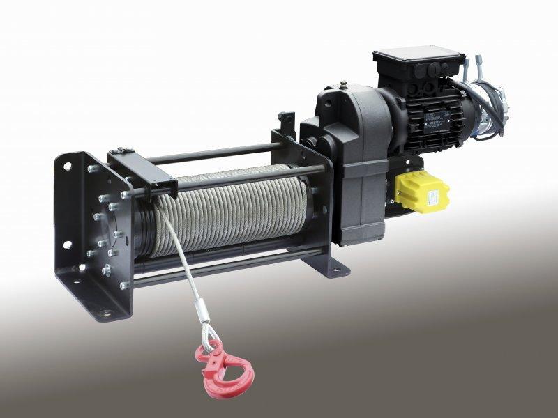 Argano elettrico a fune modello C1 - Verricelli elettrici a fune C1 Carichi di sollevamento da 160 kg a 1000 kg