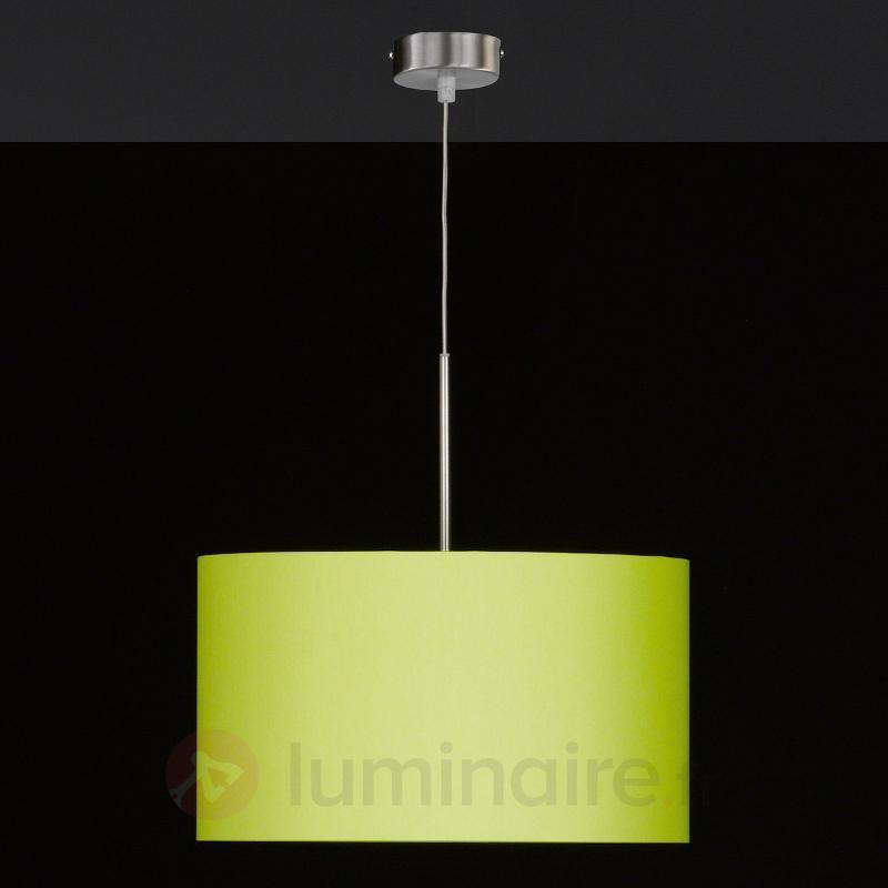 Suspension textile ronde Estadio, vert pomme - Suspensions en tissu