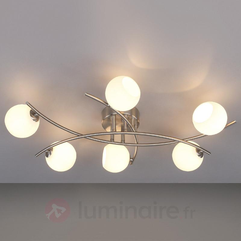 Muriel - plafonnier en verre opale pour le salon - Plafonniers LED