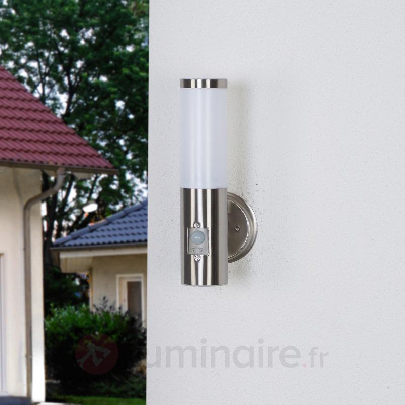 Kristof - applique extérieure inox avec détecteur - Appliques d'extérieur avec détecteur