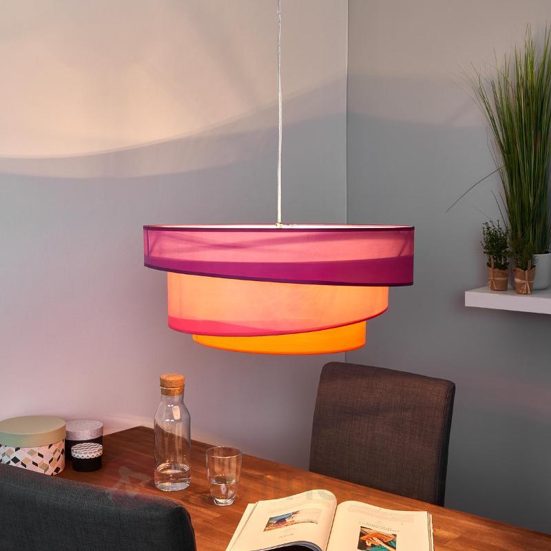 Suspension colorée Melia, violet, rose - Suspensions en tissu
