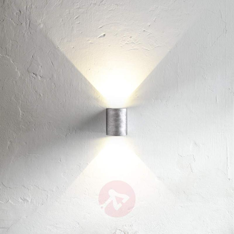 Versatile Canto LED outdoor wall light, steel - Outdoor Wall Lights