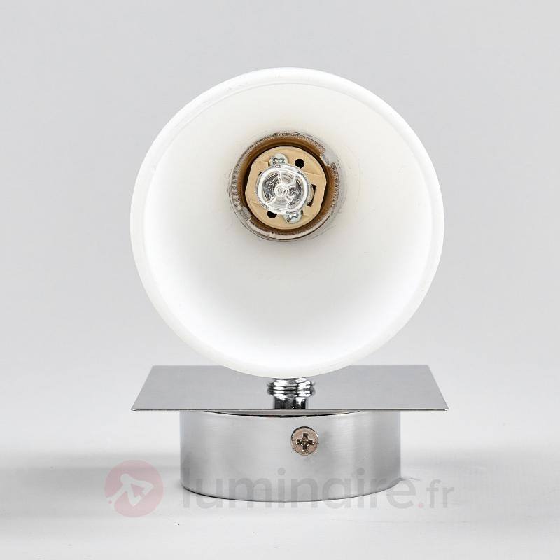Applique en verre chromé Shana - Appliques chromées/nickel/inox