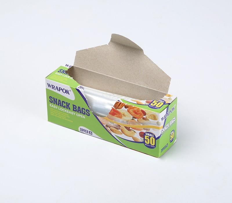 50 sacs de conservation transparents - à fermeture zip PEBD - 16 x 10 cm - 45 microns