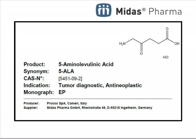 Clorhidrato de ácido 5-aminolevulínico - Ácido 5-aminolevulínico HCl; 5-ALA; Ingrediente farmacéutico activo; 5451-09-2