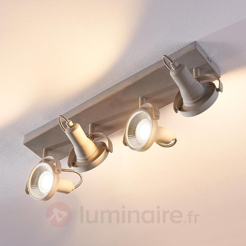Plafonnier LED long Pieter, GU10 - Spots et projecteurs LED