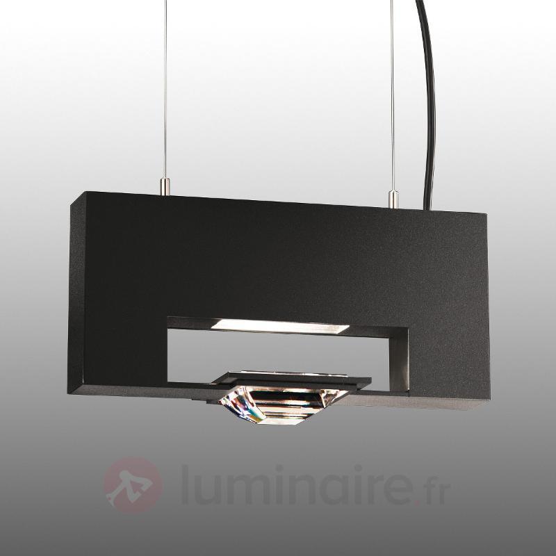 Madison - suspension à une lampe, noir - Suspensions en cristal