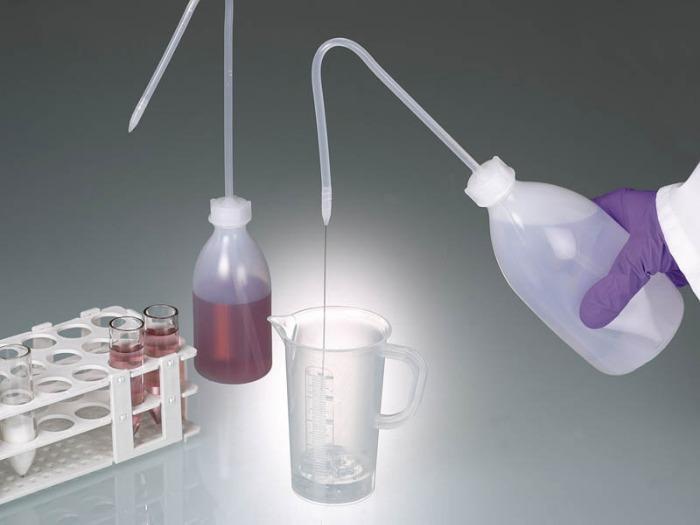 Pissette - Bouteille en plastique, LDPE, transparent, équipement de laboratoire