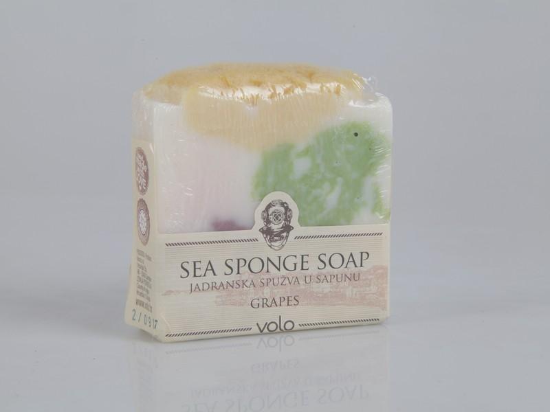 Sea sponge soap with grapes essence