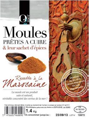 Moules Prêtes à Cuire & Leur Sachet D'épices Marocaine 1,4KG - Produits de la mer
