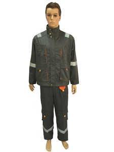 Costumes de travail avec fermeture à glissière