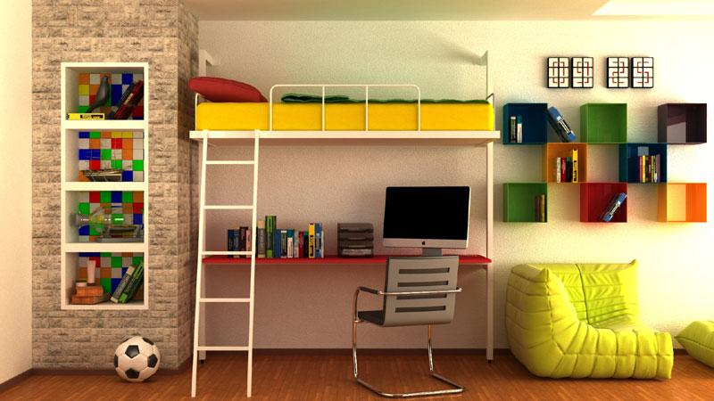 Elevated wall bed -