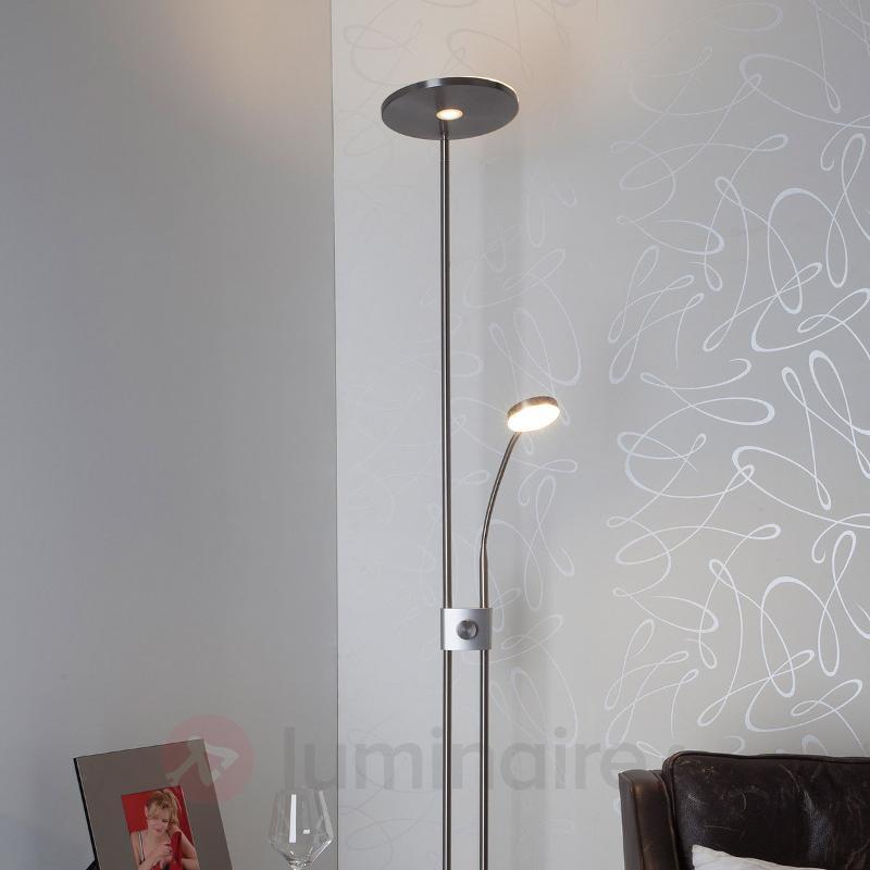 Sunniva - lampadaire LED rond avec liseuse - Lampadaires LED à éclairage indirect