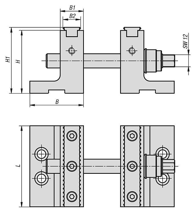 Garniture pour mors rapporté étagé pour usinage à 5 axes - Etau auto-centrant