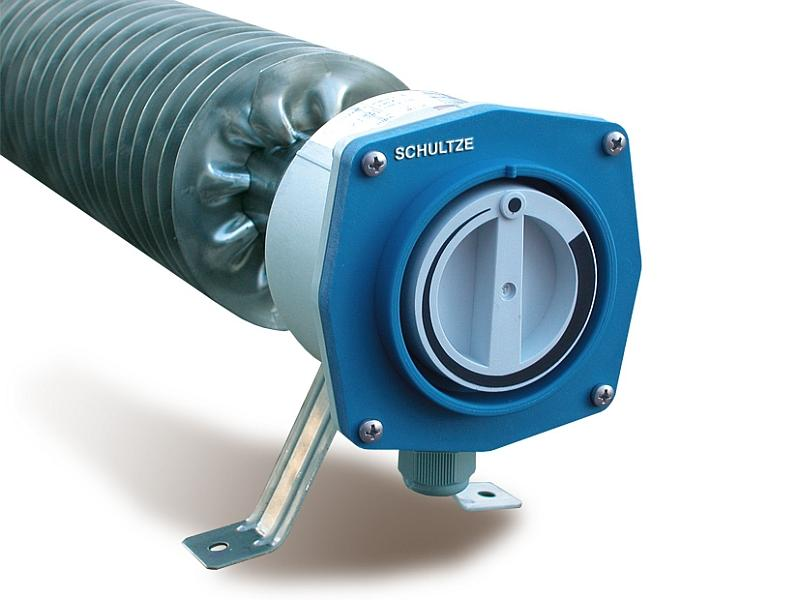Finned Tube Heater w/ thermostat, low surface temperature - Finned tubular heater, RiRo-NTA, Stainless steel, IP66/IP67
