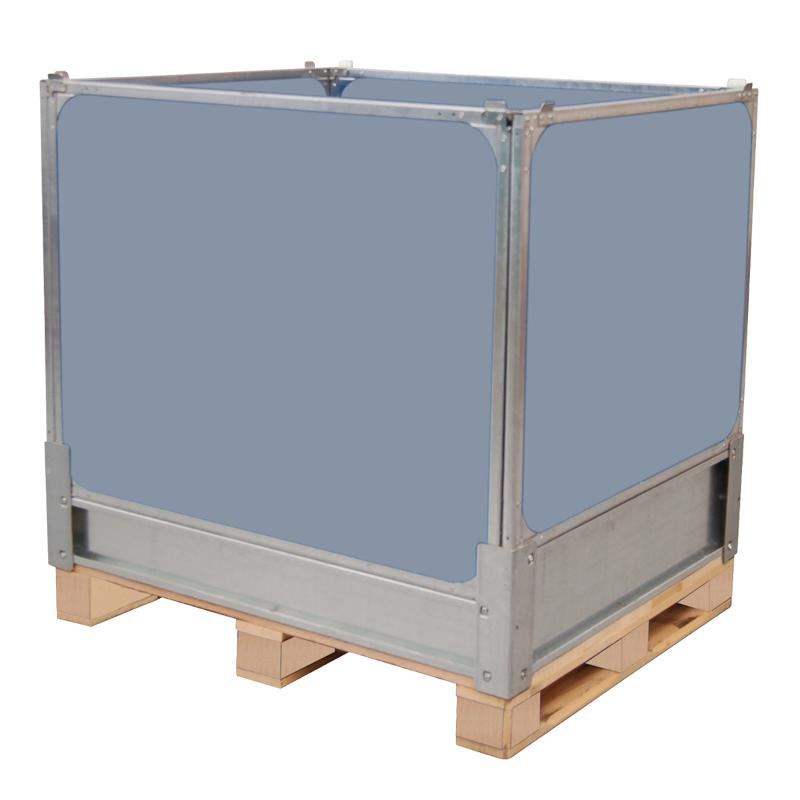 Geschlossen Kisten mit 4 Kunststoff Faltwände
