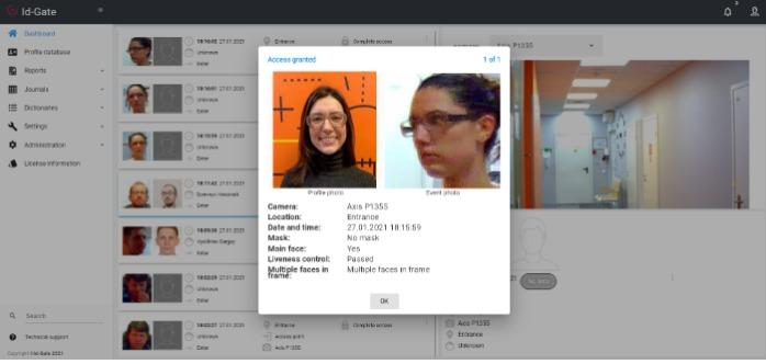 BIOMETRIC SOFTWARE PRODUCT FOR ACS - Id-Gate
