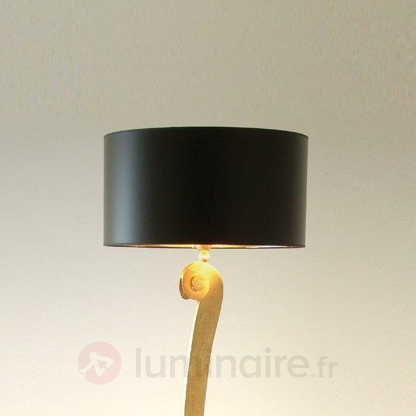 Élégant lampadaire LORGOLIOSO en noir doré - Lampadaires design