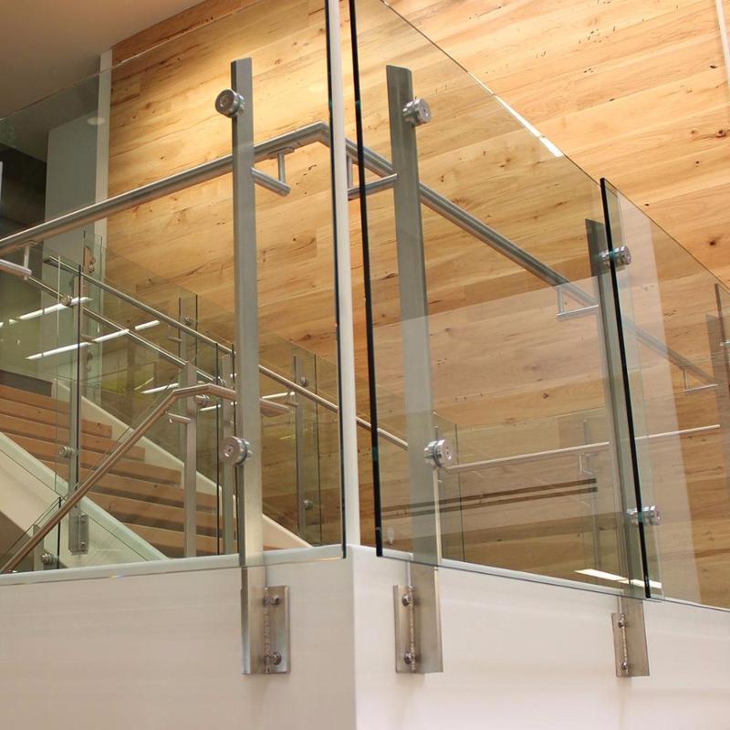 Stainless Steel Railings Glass Handrails Installation: Balcony Glass Balustrade Stainless Steel, Handrail Glass