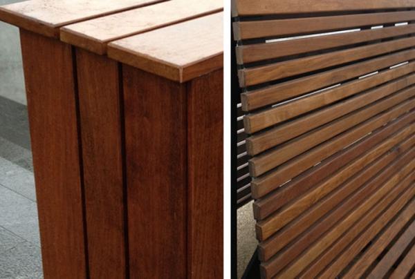 Elément de mobiliers urbains en bois - null